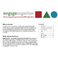 Engage Together - Generating Intergenerational Worship Ideas